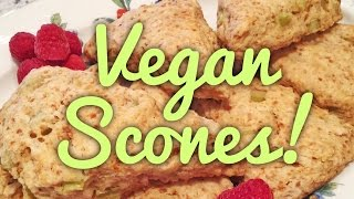 Lo's Vegan Lemon-rhubarb Scones, Featuring Lo's Vegan Buttermilk!