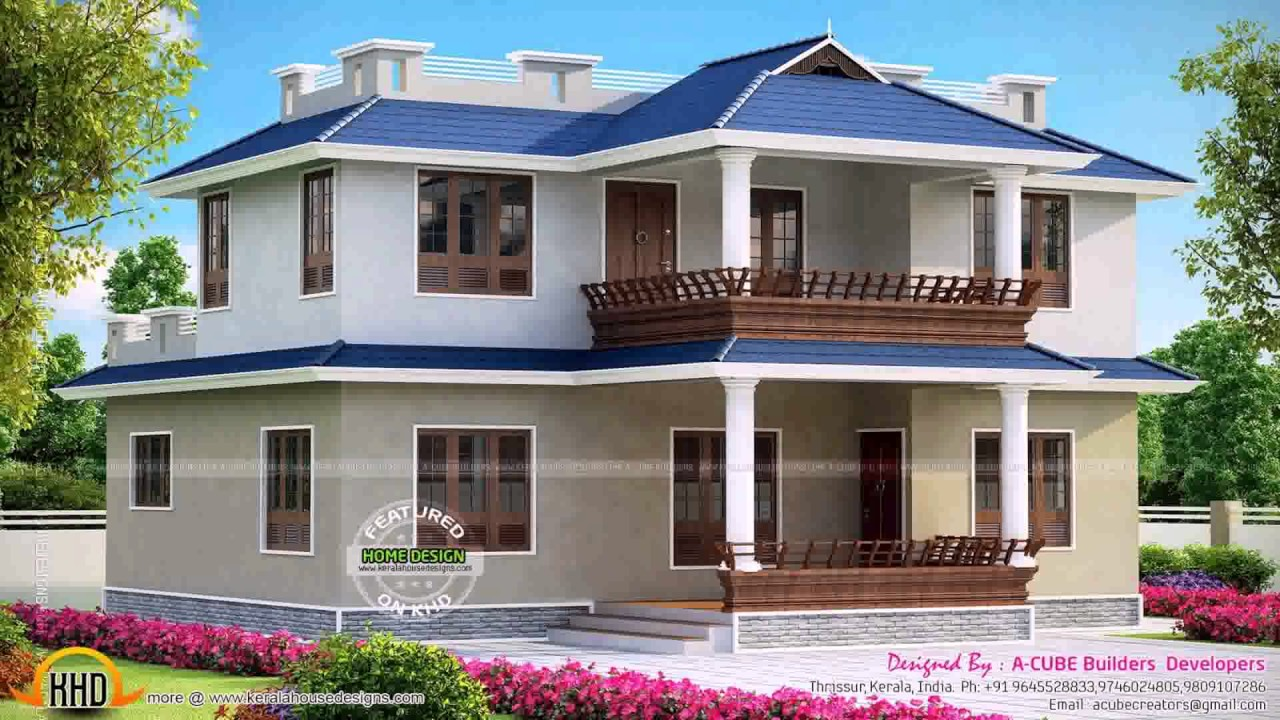 3 bedroom house plans in kerala model youtube for Kerala house plan 3 bedroom