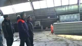Обзор подразделений пожарных ПТЦ и 27 СПЧ с начальником УРЦ МЧС России в Тюмени
