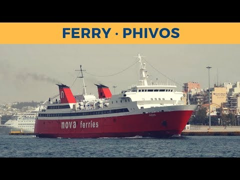 Departure of ferry PHIVOS in Piraeus (Nova Ferries)