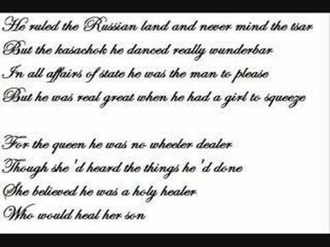 Rasputin-Boney M. (Lyrics) - YouTube