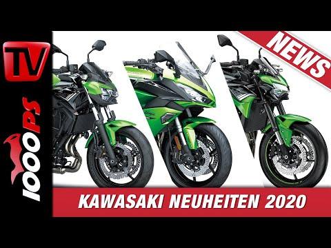 Kawasaki Z900 2020, Ninja 1000 SX, Z650 und weitere Neuheiten von der EICMA 2019