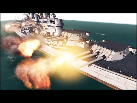 BATTLESHIP vs LANDSHIP - IOWA vs P1000 RATTE - Men of War Assault Squad 2 - Mini Scenario #34