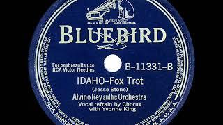 1942 HITS ARCHIVE: Idaho - Alvino Rey (Yvonne King & band, vocal) YouTube Videos