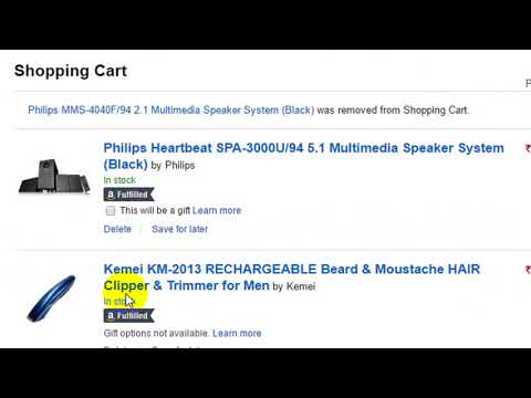 Delete Amazon Shopping Cart Empty Process