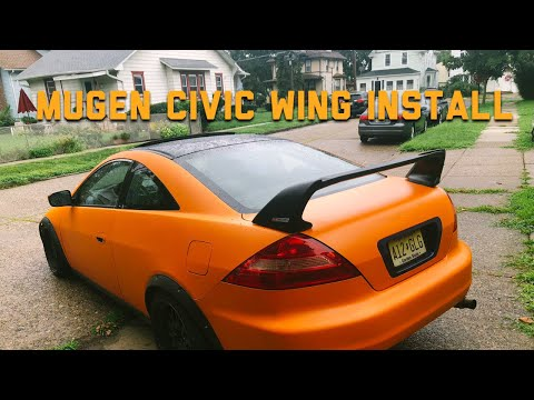 Mugen Civic Wing On My Honda Accord