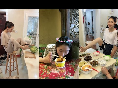Beautiful Disabled Girl Has No Arms, But Can Cut Watermelon with Her Feet