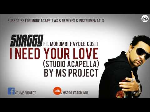 Shaggy - I Need Your Love (Studio Acapella - Vocals Only) ft. Mohombi, Faydee, Costi