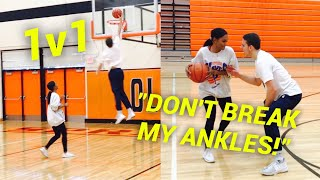 "1v1 BOYFRIEND VS GIRLFRIEND ""DON'T BREAK MY ANKLES"""