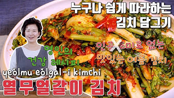 열무 얼갈이 김치 만들기 제철 재료로 신선하게 먹는 여름김치 담그기