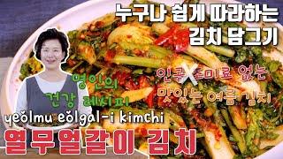 열무 얼갈이 김치 만들기 여름에 먹는 별미 김치 이하연…