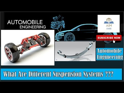 What are different Suspension Systems in an Automobile??