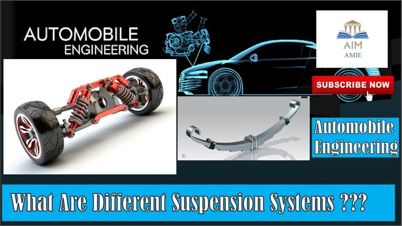 Automobile Engineering For What Are Different Suspension Systems In An Automobile Engineer S Academy