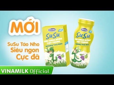 Quảng cáo Vinamilk SuSu Hương Táo Nho mới – Siêu ngon, cực đã!