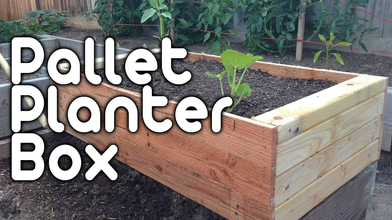 Pallet planter box youtube for How to make a planter box out of pallets