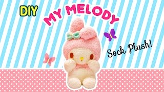 Diy My Melody Sock Plush | A Collaboration With Minty Mina D