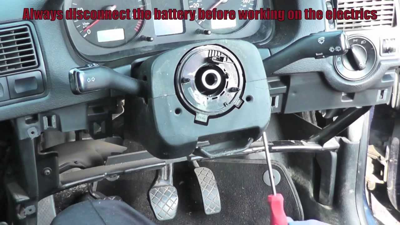 VW Golf Jetta Turn Signal Arm Removal Simple Easy Steps - YouTube