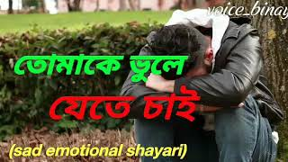 sad love story .. A Bengali sad love story audio with shayari / & voice edit by Binay 2018