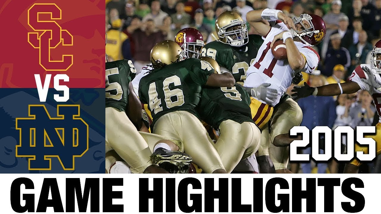 USC vs Notre Dame 2005 College Football Highlights