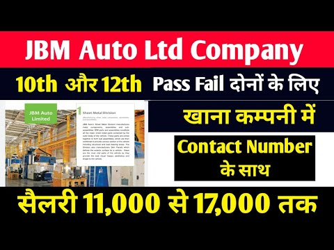 Latest Job Vacancy 2021 for 10th Pass 10th fail 12th Pass ITI Pass Fresher