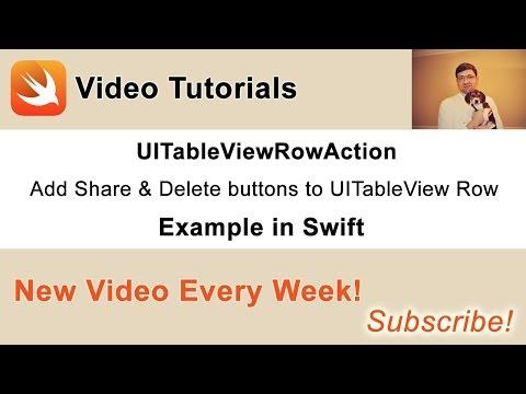 UITableViewRowAction Example in Swift - Swift Developer Blog