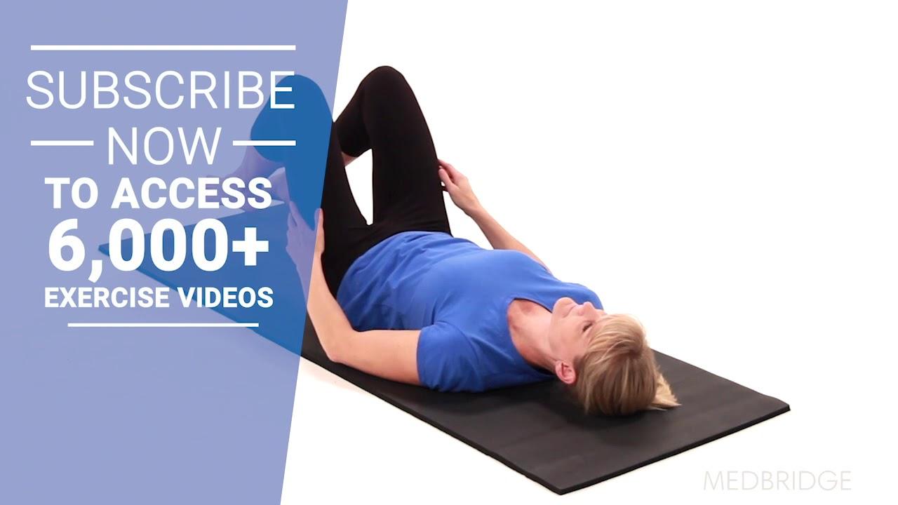 Supine Pelvic Floor Stretch | MedBridge