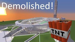 Minecraft Olympic Stadium 40,000 TNT Demolished!