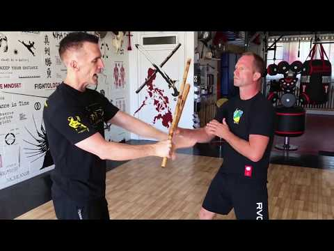 Mark Mikita teaching fundamental Kali grip breaks and grip switches with Andrew Sabens