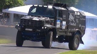 Камaз дрифт KAMAZ Dakar Truck Turbo Diesel Power! - CRAZY Run at Goodwood + Twin Drift!