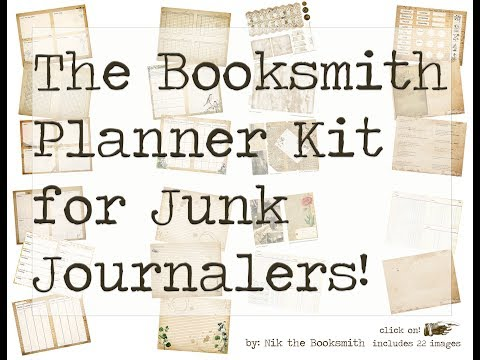 The Booksmith Planner Kit for Junk Journalers - Nik the Booksmith