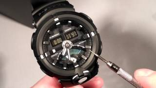 Casio GShock GA500 GA-500 First Look Hands On Functions Demonstration, Not Unboxing or Review