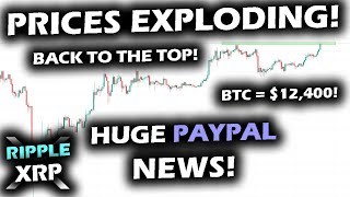 PRICES BOOM Along with HUGE NEWS about PAYPAL! Ripple XRP Price Chart Sets to Follow Bitcoin's Lead!