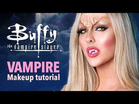 Buffy Vampire Halloween makeup tutorial