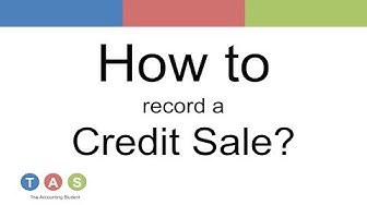 How to record a Credit Sale?