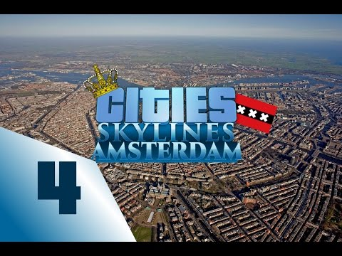 Cities: skylines Amsterdam Speedbuild - Ep4 Shaping the eastside |