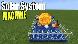 How to Make a SOLAR SYSTEM MACHINE | Minecraft Bedrock Edition ( MCPE / Windows 10 )