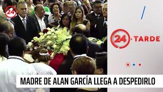 Madre de ex presidente Alan García llega para despedirlo en sede del APRA