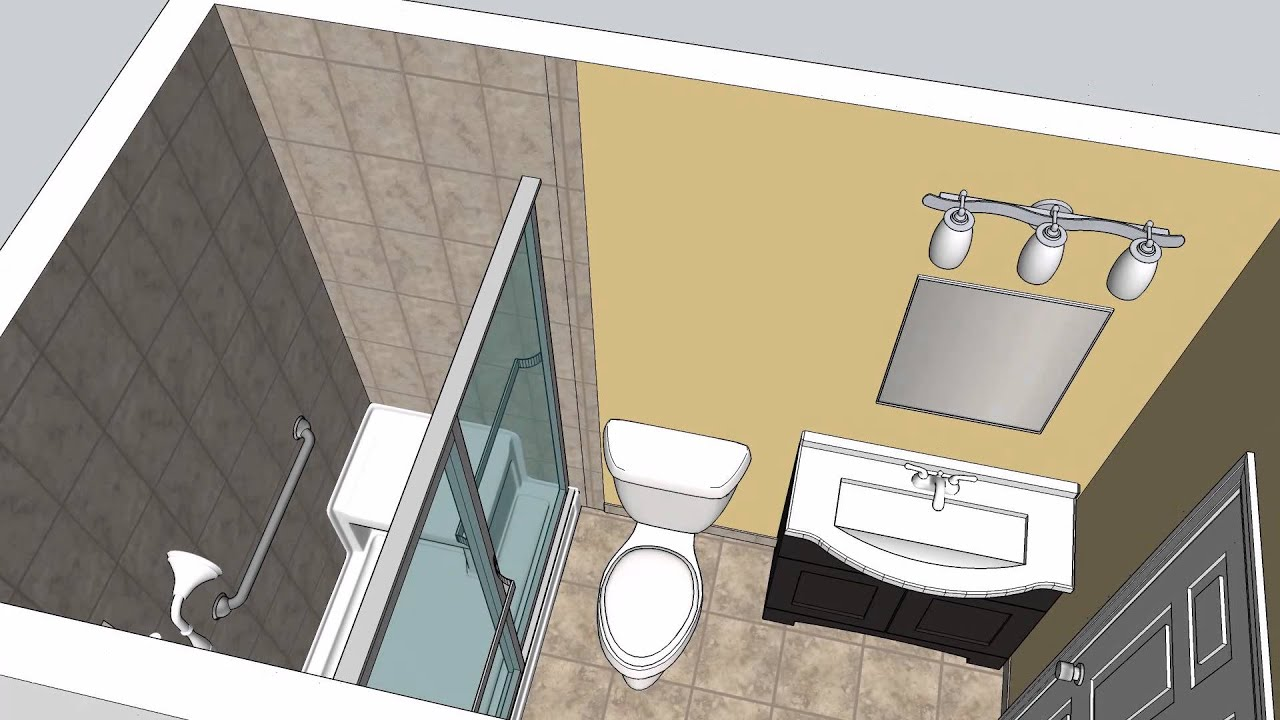 Coursey Bathroom Remodeling CAD Design Option #1 - MasterCraft ...