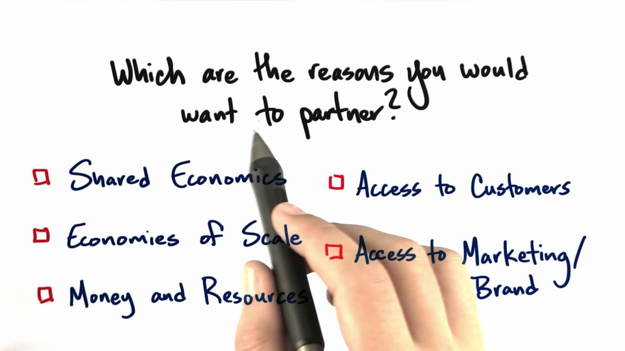 Why should you partner? - How to Build a Startup