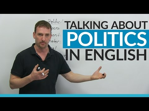 Vocabulary: Talking about POLITICS in English