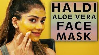 Haldi Aloe-Vera Face Mask at Home  Beauty Hacks
