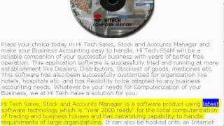 SSAM - One of Hi Tech Accounting Software for POS, Billing, Accounting, Inventory