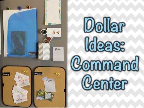 DOLLAR ORGANIZING | Fridge Command Center!