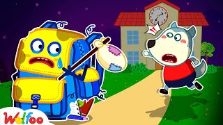 The Talking Backpack! Please Come Back With Wolfoo - Kids Good Habits | Wolfoo Family Kids Cartoon