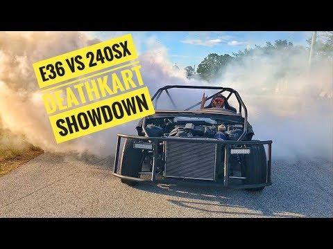 240Sx Deathkart Vs E36 Deathkart Drift Showdown!