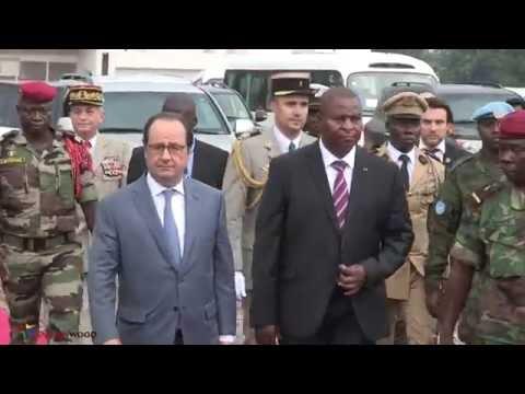François Hollande à Bangui le 13 Mai 2016