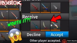 THIS WAS A PRETTY ROUGH TRADE TODAY! *IS IT WORTH IT?! * (ROBLOX ASSASSIN ROUGH TRADES*