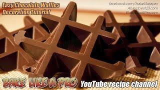 Easy Chocolate Waffles Decoration Tutorial