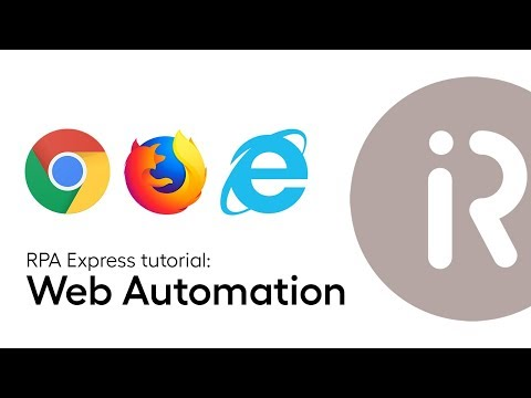 Lesson 3 - Automating web actions in WorkFusion RPA Express - YouTube