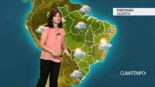 Previsão Brasil – Sul volta a ter chuva forte